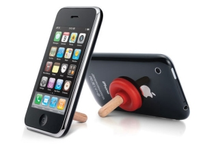 iplunge-Fred & Friends-support débouche rouge pour smartphone